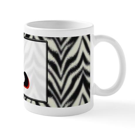 Zebra Monogram L Mug