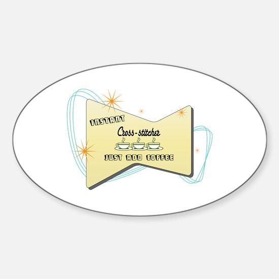Instant Cross stitcher Oval Decal