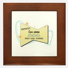 Instant Cross stitcher Framed Tile
