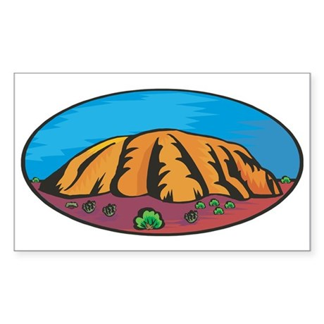 Uluru Rectangle Sticker