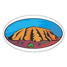 Uluru Oval Decal