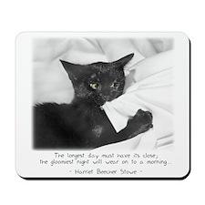 Optimistic Cat-And-Quote Mousepad