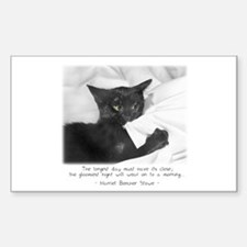 Optimistic Cat-And-Quote Rectangle Decal