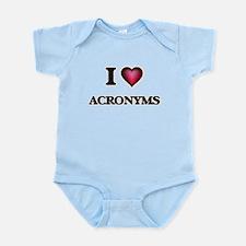 I Love Acronyms Body Suit