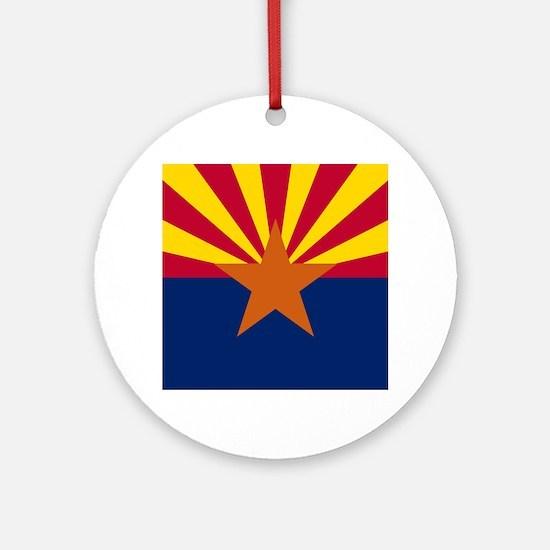 Arizona: Arizona State Flag Round Ornament
