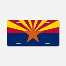Arizona: Arizona State Flag Aluminum License Plate