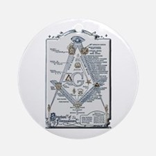 Structure of Freemasonry Round Ornament