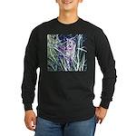 Colorful Cat Long Sleeve Dark T-Shirt