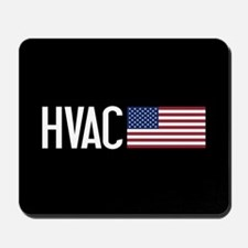 HVAC: HVAC & American Flag Mousepad