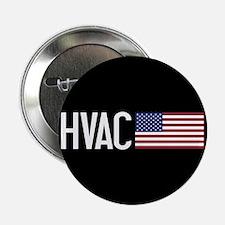 "HVAC: HVAC & American Flag 2.25"" Button (10 pack)"