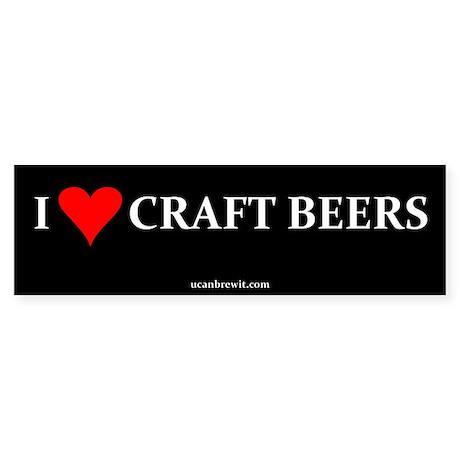 I HEART CRAFT BEERS - Bumper Sticker