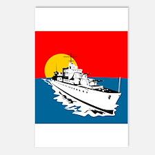 World War Two Battleship Postcards (Package of 8)