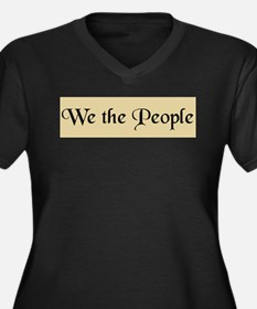 We The People Women's Plus Size V-Neck Dark T-Shir