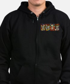 Sugar Skulls Day of the Dead Zip Hoody