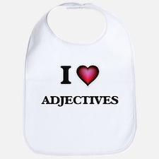 I Love Adjectives Bib