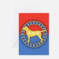 Yellow Dog Greeting Card