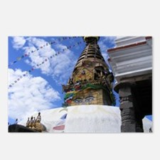 Monkey Temple 6x4 Postcards (Package of 8)