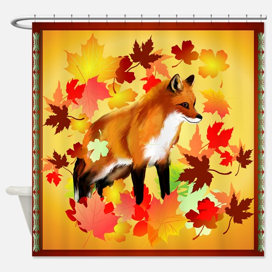 A Fox In Fall Shower Curtain