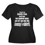 Lousy t-shirt Women's Plus Size Scoop Neck Dark T-