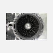 Funny Jet engine Rectangle Magnet