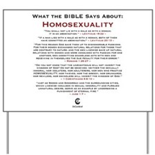 Homosexuality 2.0 - Yard Sign