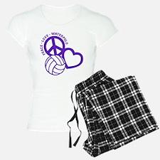 PEACE-LOVE-WATERPOLO Pajamas