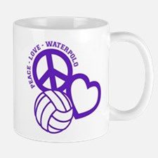 PEACE-LOVE-WATERPOLO Mug