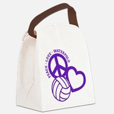 PEACE-LOVE-WATERPOLO Canvas Lunch Bag