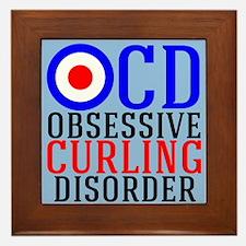 Funny Curling Framed Tile