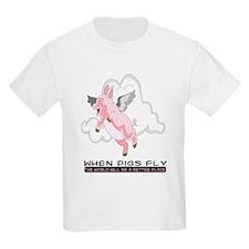 When Pigs Fly Kids T-Shirt