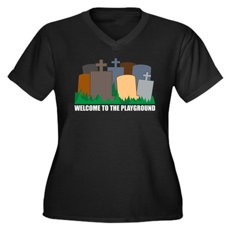 Welcome To Playground Women's Plus Size V-Neck Dar