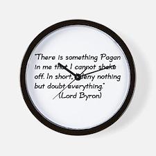 Lord Byron Pagan Quote Wall Clock