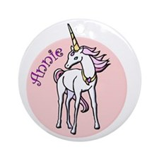 Annie Unicorn Ornament (Round)