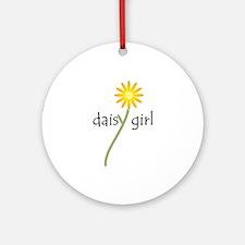 Yellow Daisy Girl Ornament (Round)