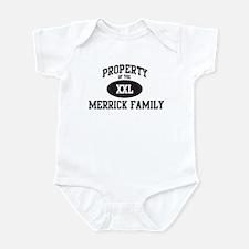 Property of Merrick Family Infant Bodysuit