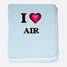 I Love Air baby blanket