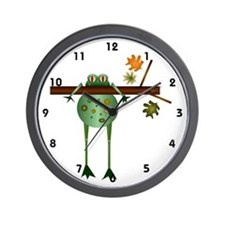 Of Trees and Frogs Wall Clock