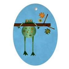 Of Trees And Frogs Oval Ornament (oval)