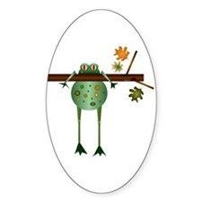 Of Trees and Frogs Oval Decal