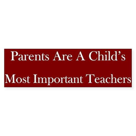 Parents As Teachers Bumper Sticker