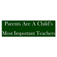 Parents As Teachers Bumper Bumper Sticker
