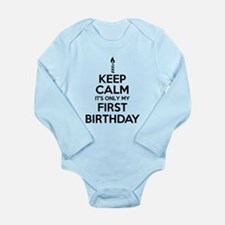Keep Calm First Birthday Body Suit