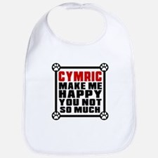 Cymric Cat Make Me Happy Bib