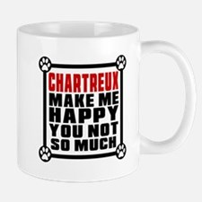Chartreux Cat Make Me Happy Small Small Mug