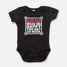 Chantilly Tiffany Cat Make Me Happy Baby Bodysuit
