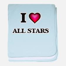 I Love All-Stars baby blanket