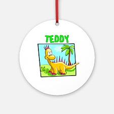 Teddy Dinosaur Ornament (Round)