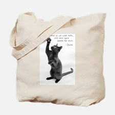 Captivated Cat-And-Quote Tote Bag