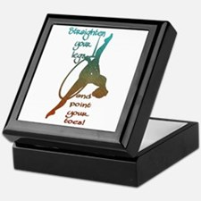 Straighten Your Legs And Point Toes Keepsake Box