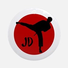 JD Karate Ornament (Round)